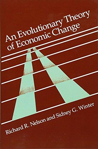9780674272286: An Evolutionary Theory of Economic Change (Belknap Press)