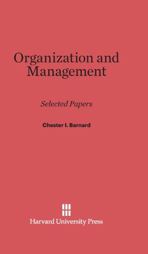 9780674280618: Organization and Management