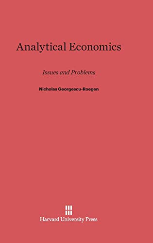 9780674281622: Analytical Economics: Issues and Problems