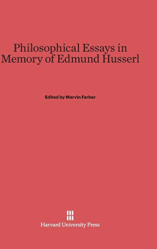9780674282681: Philosophical Essays in Memory of Edmund Husserl