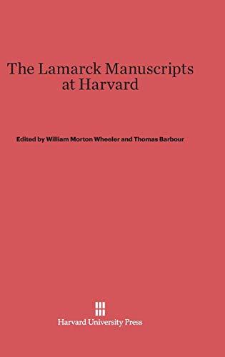 9780674289819: The Lamarck Manuscripts at Harvard