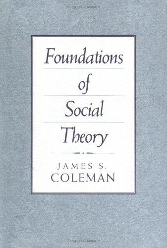 9780674312258: Foundations of Social Theory (Belknap Press)