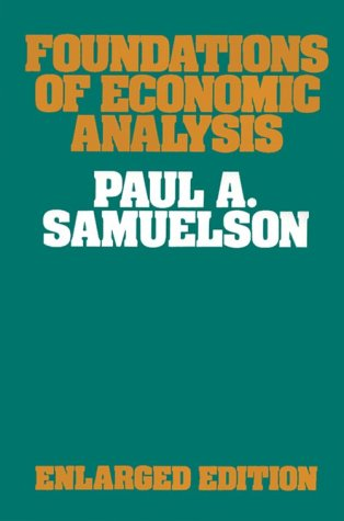 9780674313033: Foundations of Economic Analysis