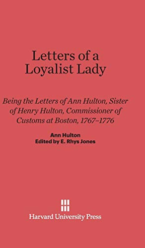 Letters of a Loyalist Lady
