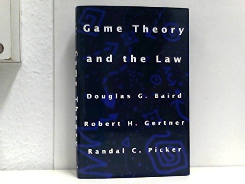 9780674341197: Game Theory and the Law