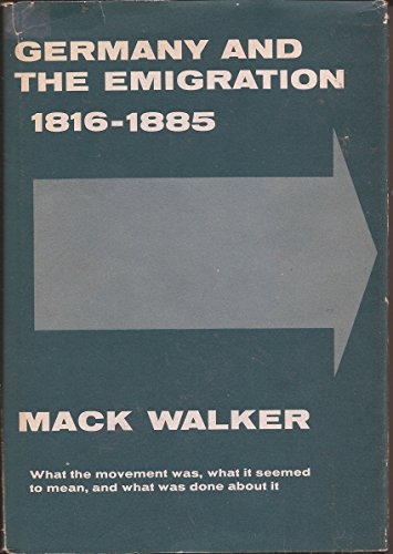 9780674353008: Germany and the Emigration, 1816-1885