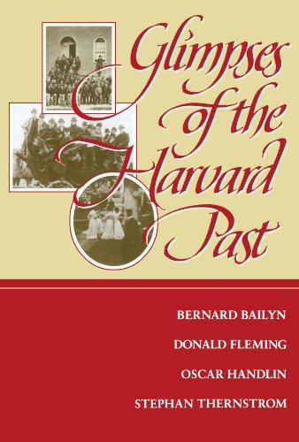 Glimpses of the Harvard Past: Donald Fleming; Bernard