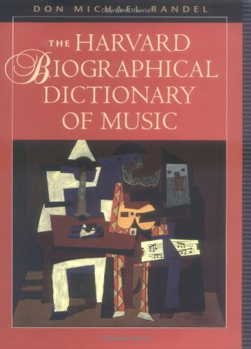 9780674372993: The Harvard Biographical Dictionary of Music (Harvard University Press Reference Library)