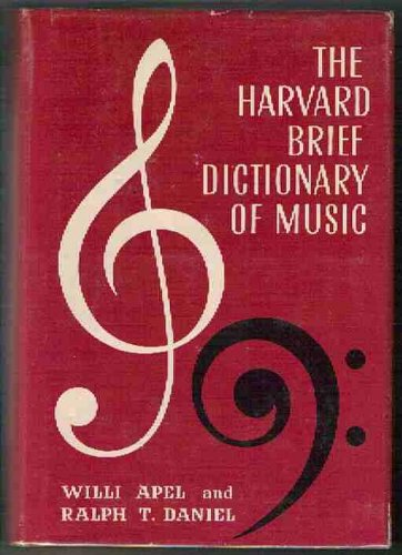9780674373501: The Harvard Brief Dictionary of Music
