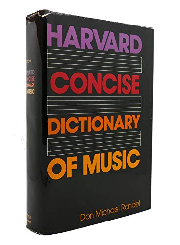 9780674374713: Harvard Concise Dictionary of Music