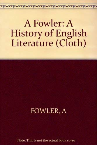 9780674396654: A History of English Literature