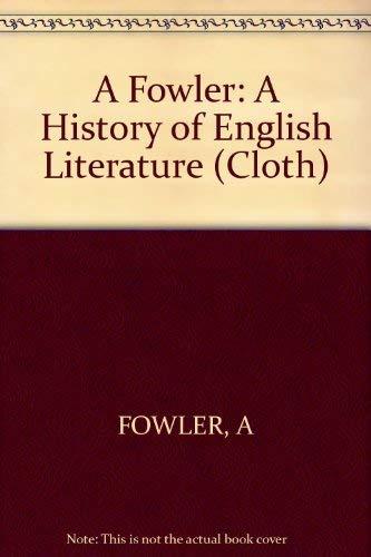9780674396654: A History of English Literature