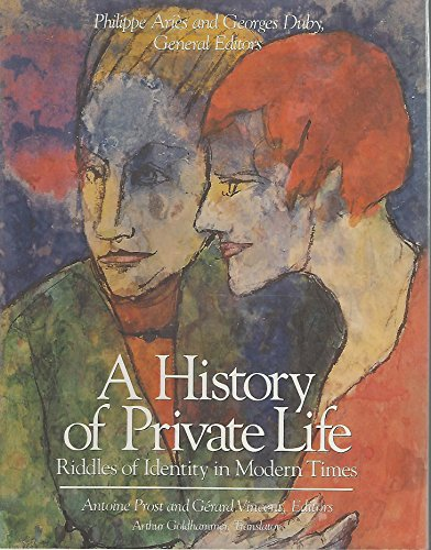9780674399792: History of Private Life, Volume V: Riddles of Identity in Modern Times