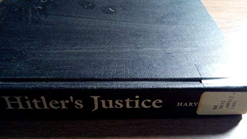 9780674404182: Hitler's Justice: The Courts of the Third Reich