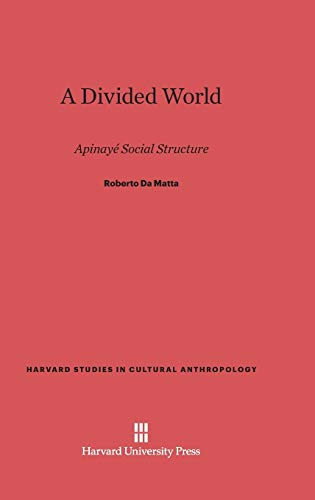 9780674419087: A Divided World: Apinayé Social Structure