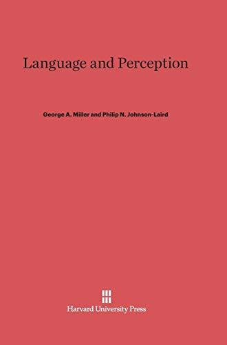 9780674421271: Language and Perception