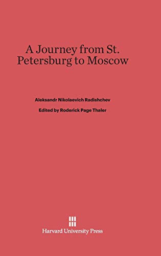 9780674435186: A Journey from St. Petersburg to Moscow
