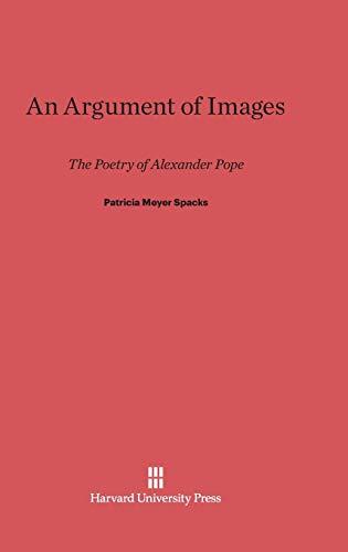 An Argument of Images (Hardback): Patricia Meyer Spacks