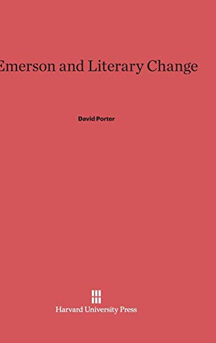 9780674436541: Emerson and Literary Change
