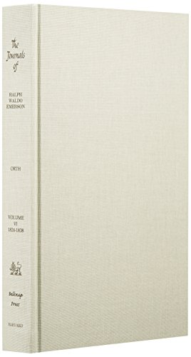 9780674484566: The Journals and Miscellaneous Notebooks of Ralph Waldo Emerson: Vol. 6: 1824-1838