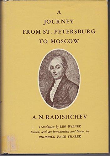 9780674485501: Radishchv: Journey from St Petersburg