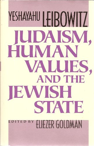 9780674487758: Judaism, Human Values, and the Jewish State