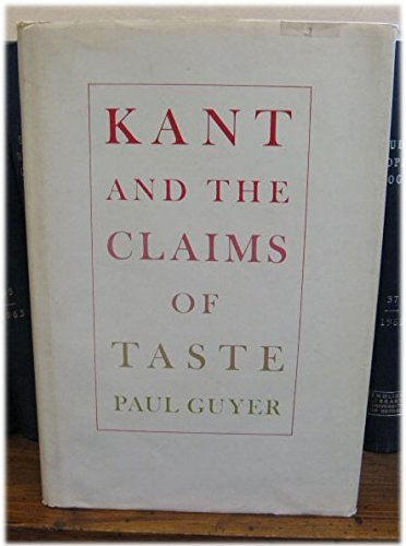 9780674500204: Kant and the Claims of Taste