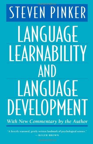 9780674510531: Language Learnability and Language Development