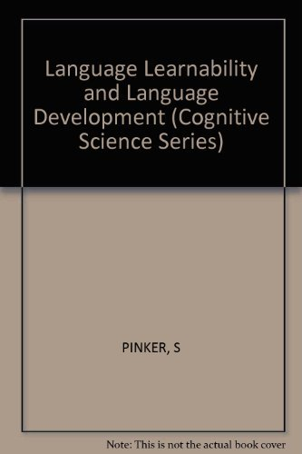 9780674510548: Language Learnability and Language Development: First Edition (Cognitive Science Series)