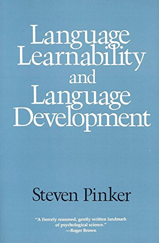 9780674510555: Language Learnability and Language Development: First Edition (Cognitive Science Series)