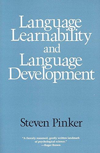 9780674510555: Language Learnability and Language Development