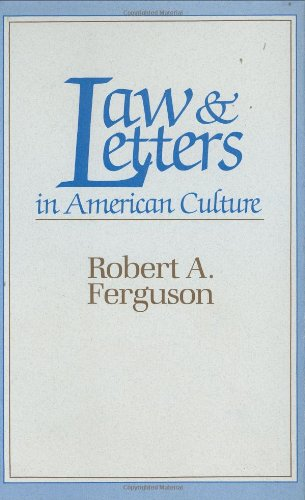 9780674514652: Law and Letters in American Culture
