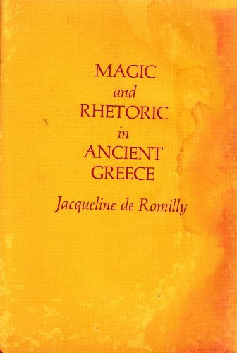 9780674541528: Magic and Rhetoric in Ancient Greece (C.N.Jackson Lecture)