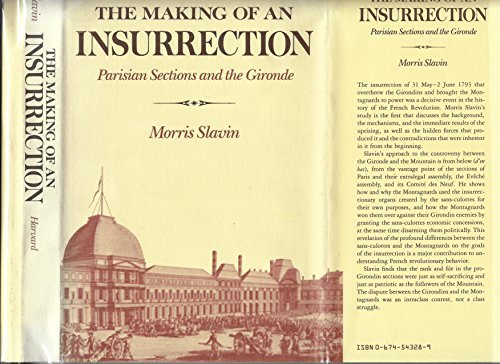 9780674543287: THE MAKING OF AN INSURRECTION: Parisian Sections and the Gironde