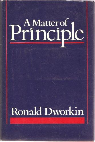 9780674554603: A Matter of Principle