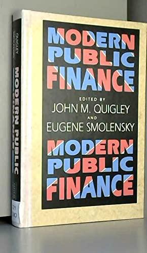 9780674580541: Modern Public Finance