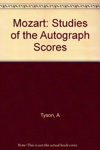 9780674588301: Mozart: Studies of the Autograph Scores