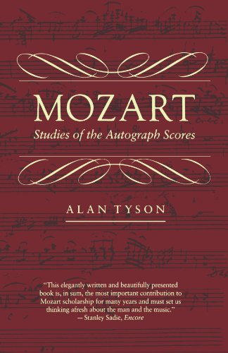 9780674588318: Mozart: Studies of the Autograph Scores