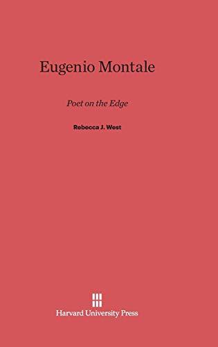 9780674593596: Eugenio Montale