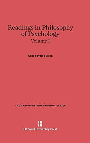 9780674594593: Readings in Philosophy of Psychology, Volume I (Language and Thought)
