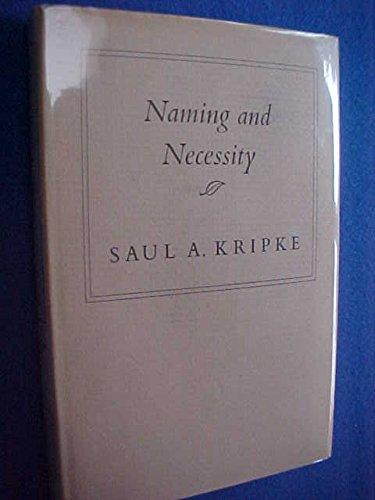9780674598454: Naming & Necessity (Cloth)