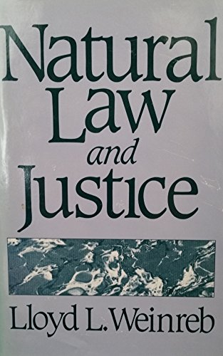 9780674604254: Natural Law and Justice