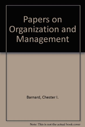 9780674643000: Organization and Management: Selected Papers