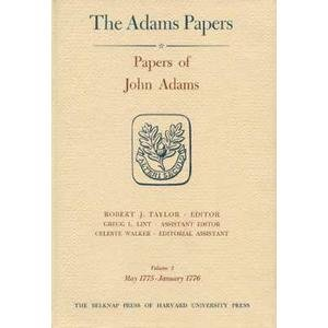 Papers of John Adams: May 1775-Aug.1776 v.3-4 (Hardback): John Adams