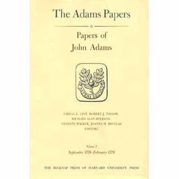 Papers of John Adams: Sept 1778-Feb.1779 v. 7-8 (Hardback): John Adams