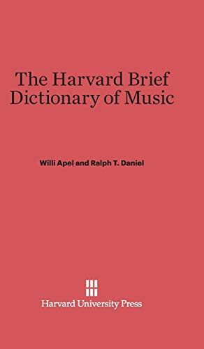 9780674729414: The Harvard Brief Dictionary of Music