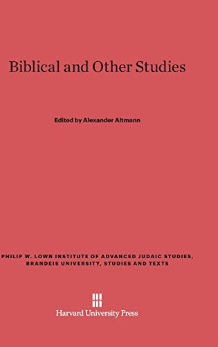 Biblical and Other Studies