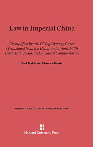 9780674733190: Law in Imperial China (Harvard Studies in East Asian Law)