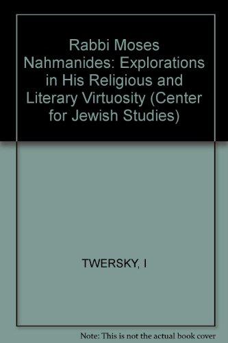 9780674745605: Rabbi Moses Nahmanides