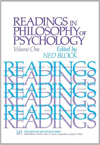 9780674748767: Readings in Philosophy of Psychology, Volume I,: Vol 1 (The Language and Thought Series)